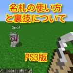 マインクラフトPS3版で名札の裏技は使える?